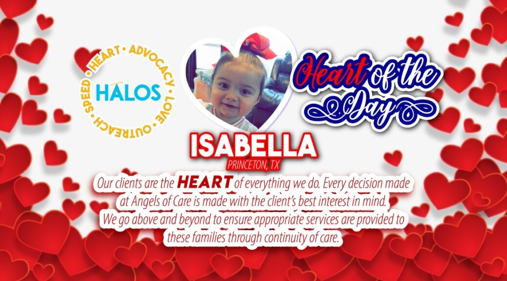 Isabella - heart of the day winner